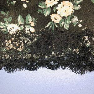 Forever 21 Skirts - Black Floral Lace Bottom Mini Skirt